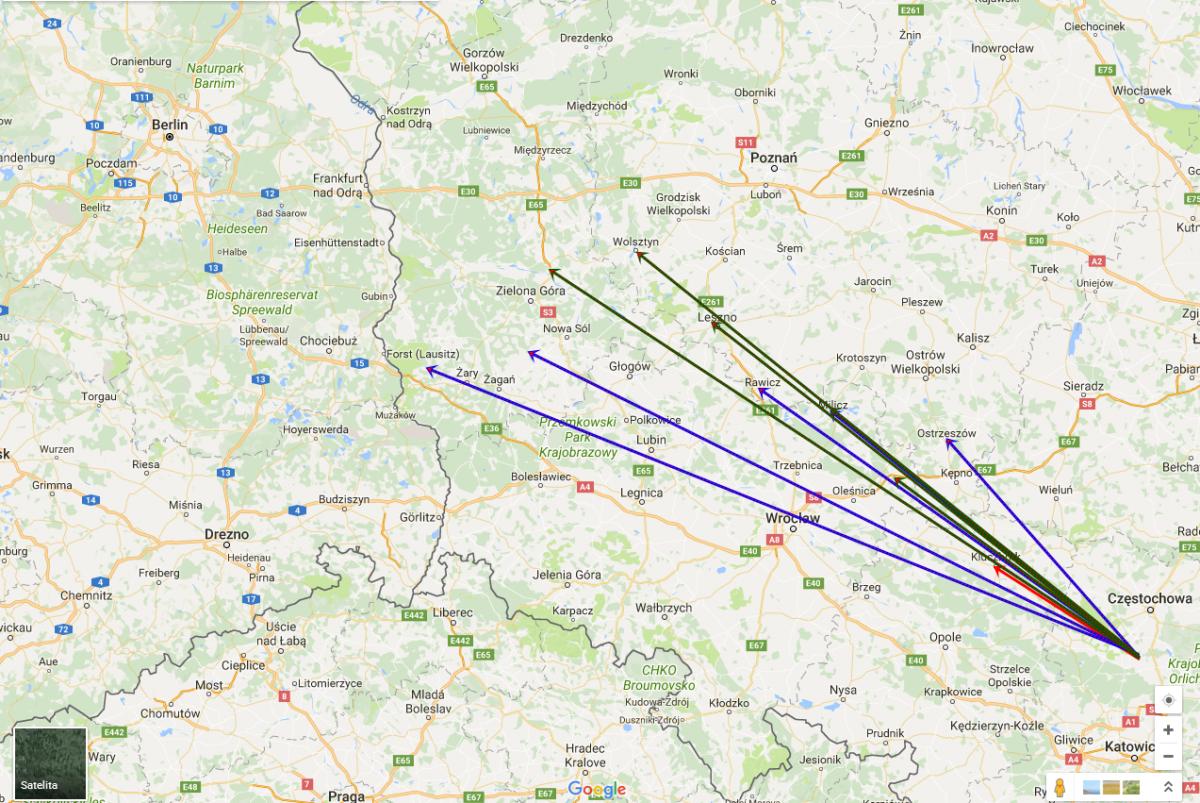 Mapy lotów